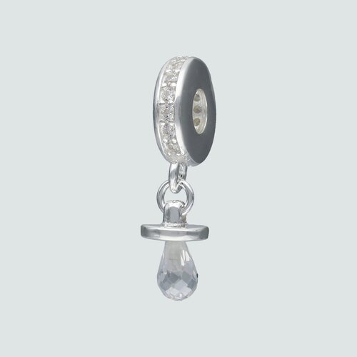 Colgante Charm Chupete Hecho con Cristal Swarovski® y Circones