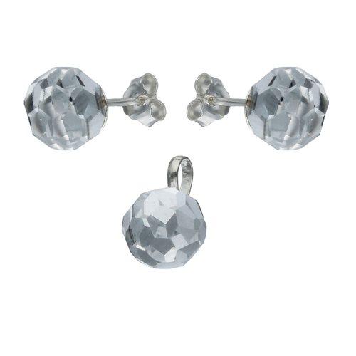 Conjunto Esfera Cristales Facetada