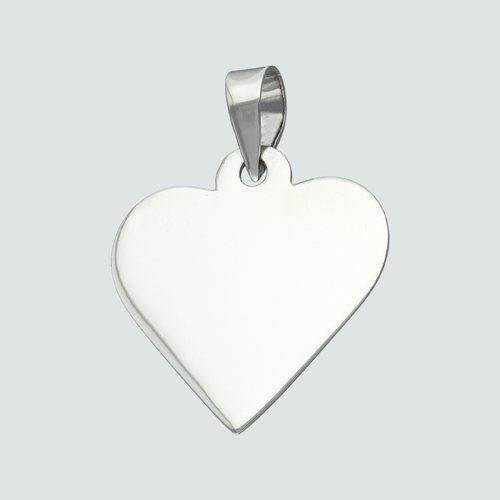 Colgante Placa Corazón Pequeña 19x20 mm