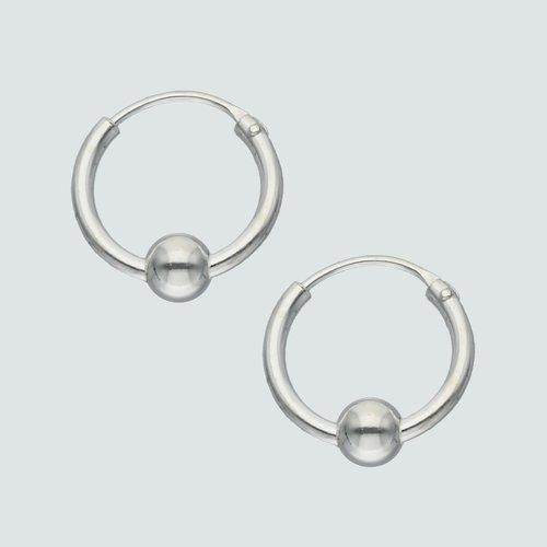 Aro Argolla con Esfera 12 mm