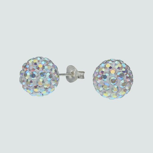 Aro Esfera Cristales Tornasol 10 mm