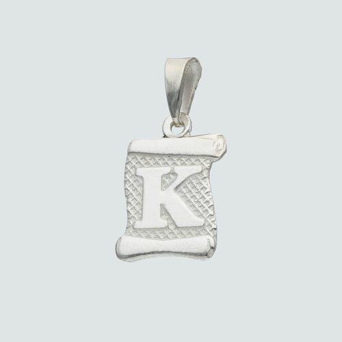 Colgante Pergamino Letra K
