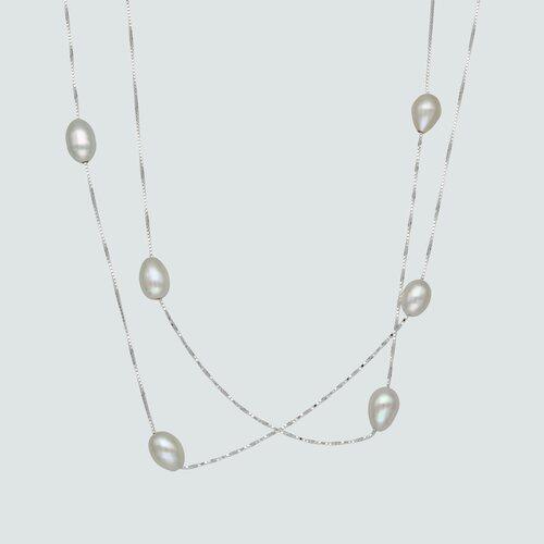 Collar Doble con Perlas