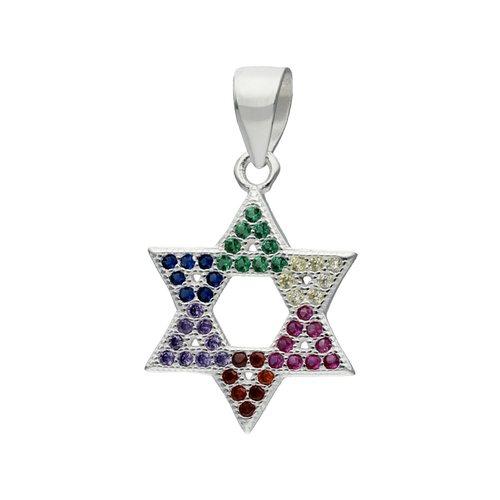 Colgante Estrella de David Circones Multicolor