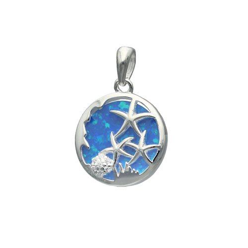 Colgante Estrellas de Mar Ópalo y Circones