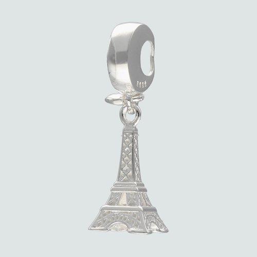 Colgante Charm Torre Eiffel Corazón