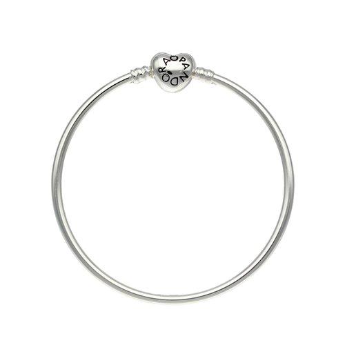 Pulsera Rígida Pandora Corazón para Niña 16 cm