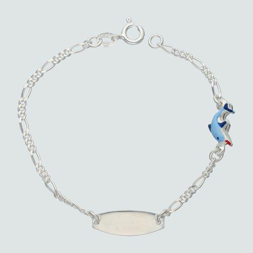 Pulsera Piocha Cartier Delfín Esmaltado 16 cm