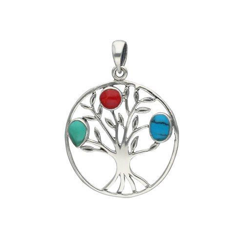 Colgante Árbol de la Vida Multicolor