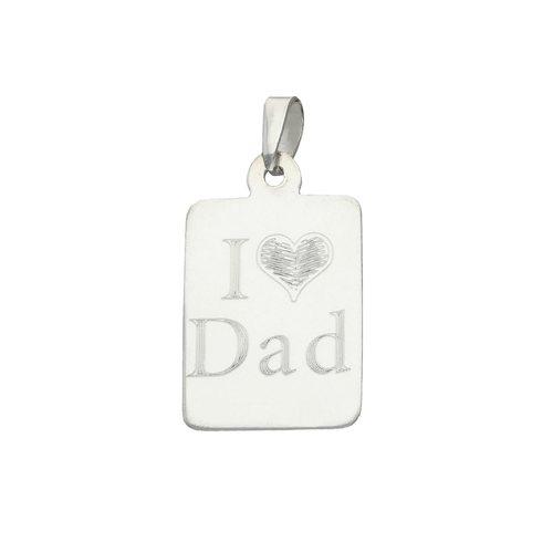Colgante Placa I Love Dad