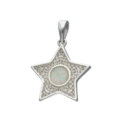 Colgante Estrella Ópalo y Circones