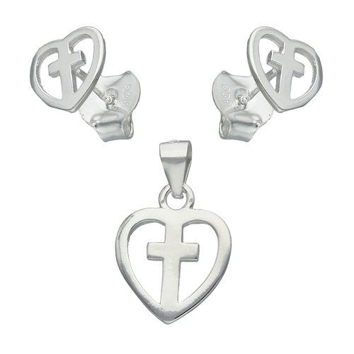 Conjunto Corazón con Cruz