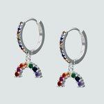 Argolla Huggie Circones Multicolor 15 mm
