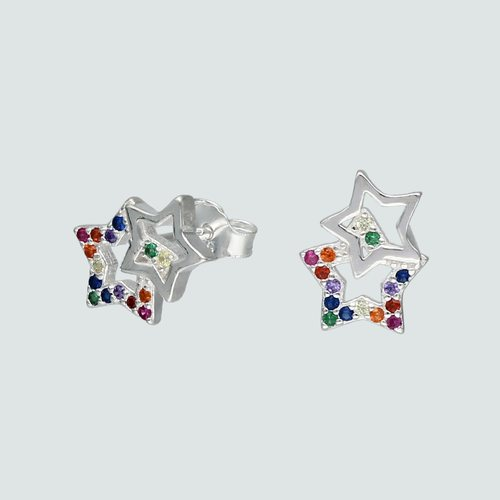Aro Estrellas con Circones Multicolor