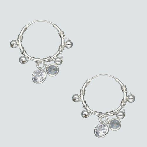 Aro Argolla Esferas y Circones 16 mm