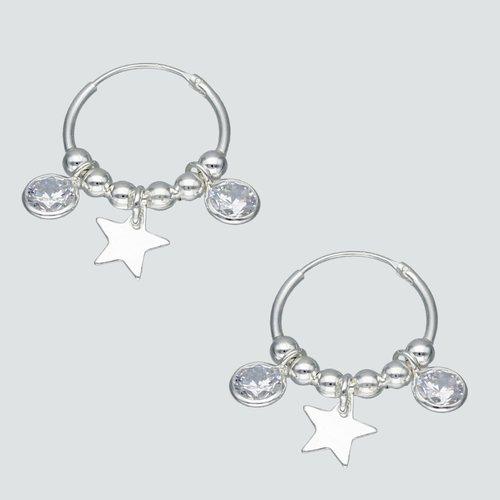 Aro Argolla Esferas Circones y Estrellas 16 mm