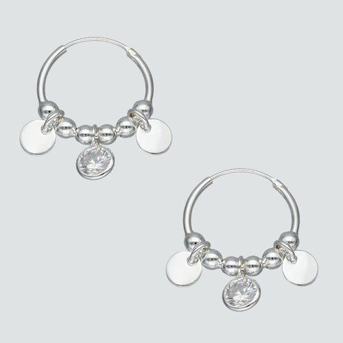 Aro Argolla Esferas Círculos y Circones 16 mm