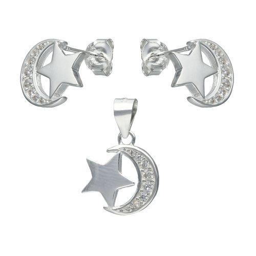 Conjunto Media Luna con Estrella y Circones