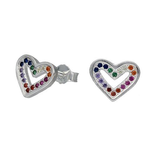 Aro Corazón Circones Multicolor