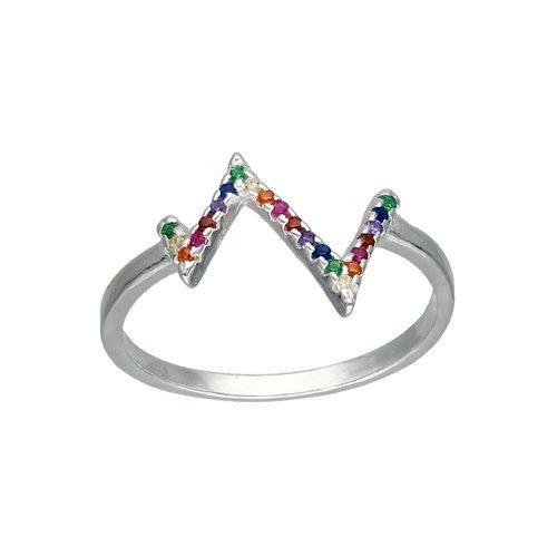 Anillo Montañas Circones Multicolor