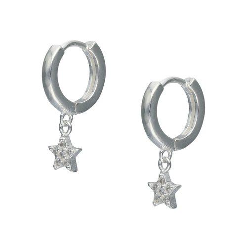 Aro Huggie Estrella con Circones 12 mm