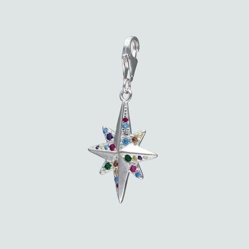 Colgante con Broche Estrella Fugaz Circones Multicolor