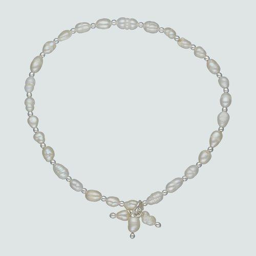 Pulsera Elástica Perlas Ovaladas Desigual