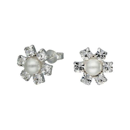 Aro Flor Circones y Perla