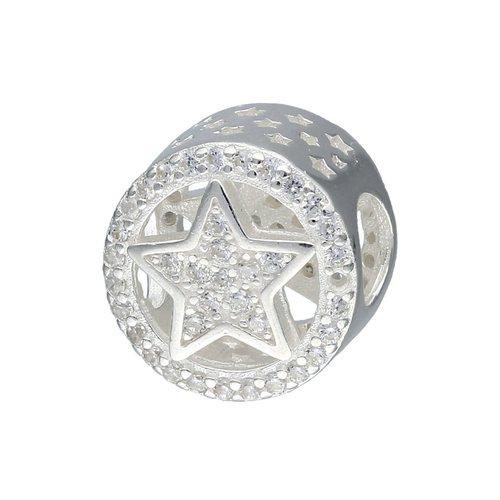 Colgante Charm Estrella con Circones