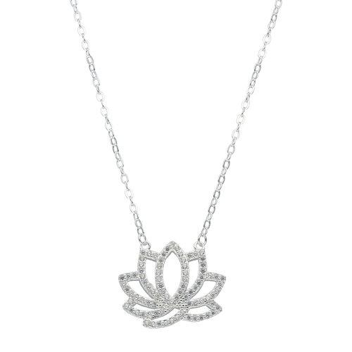 Collar Flor de Loto con Circones