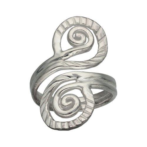 Anillo Espiral Facetado