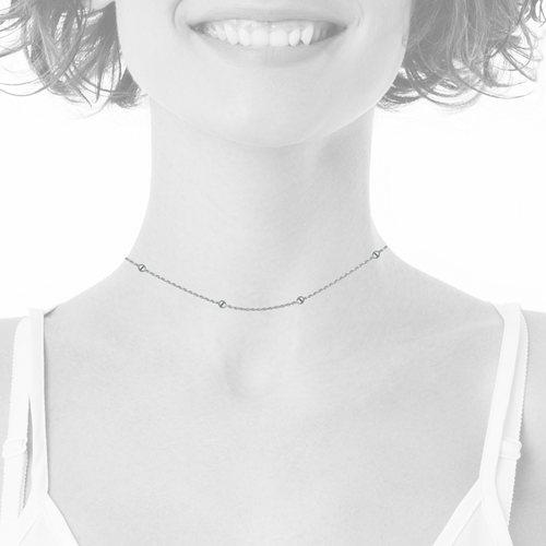 Collar Choker Ajustable Turbillon con Esferas