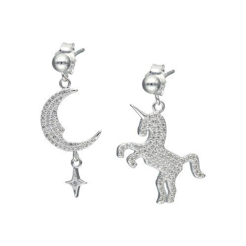 Aro Desigual Media Luna y Unicornio con Circones