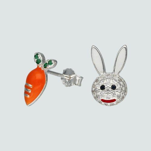 Aro Desigual Conejo y Zanahoria con Circones