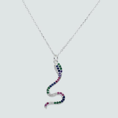 Collar Serpiente Circones Multicolor
