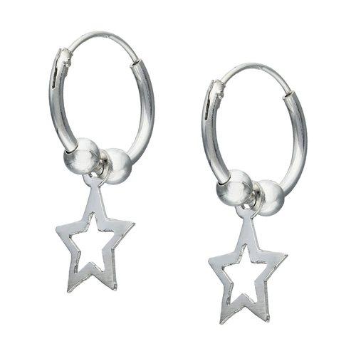 Aro Argolla Estrella y Esferas 12 mm