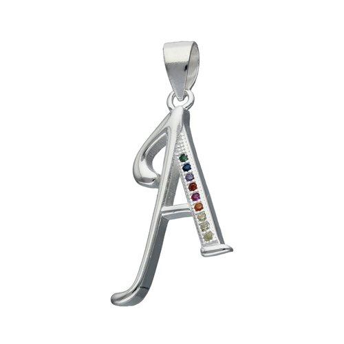 Colgante Letra A con Circones Multicolor