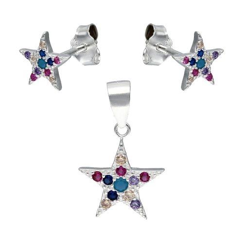 Conjunto Estrella Circones Multicolor