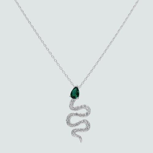 Collar Serpiente Circón Esmeralda