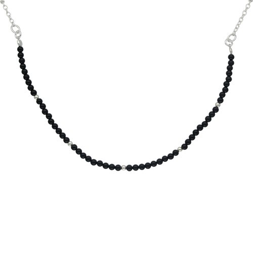 Collar Choker Ajustable Cristales Negros