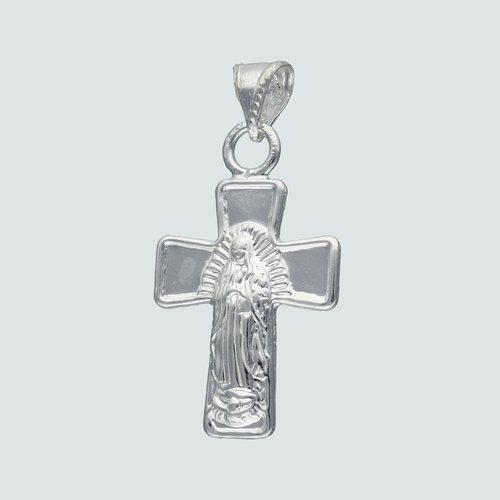 Colgante Inflado Cruz Virgen de Guadalupe