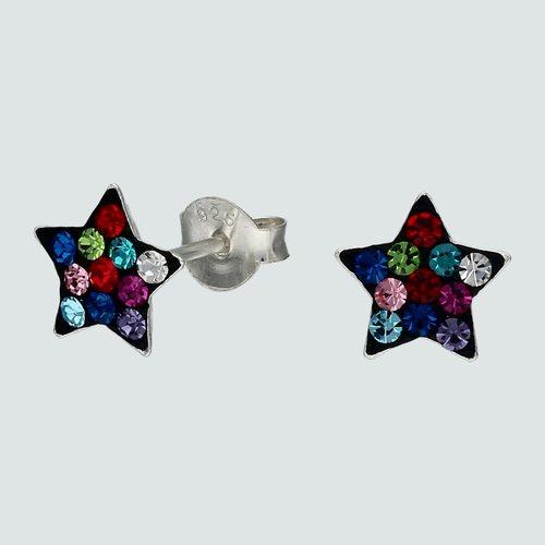 Aro Estrella Cristales Multicolor