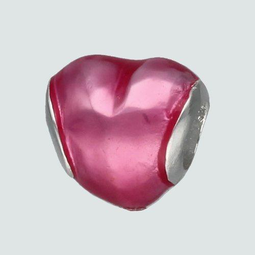 Colgante Charm Corazón Esmaltado