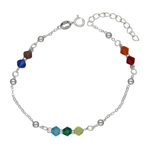 Pulsera Esferas y Cristales Multicolor