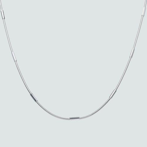 Collar Choker Ajustable Cola de Topo con Hexágonos