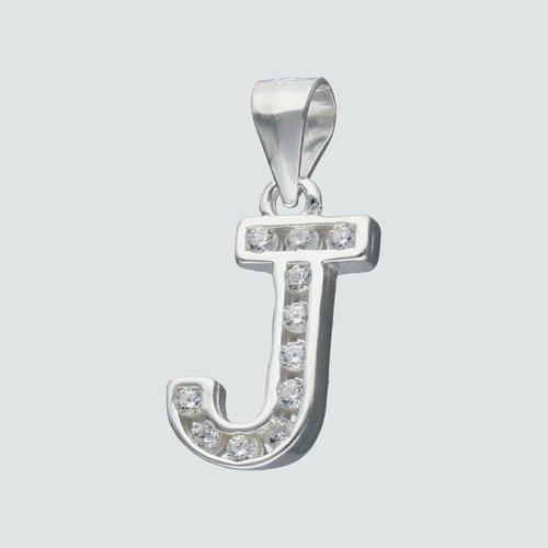Colgante Letra J con Circones