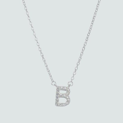 Collar Letra B con Circones
