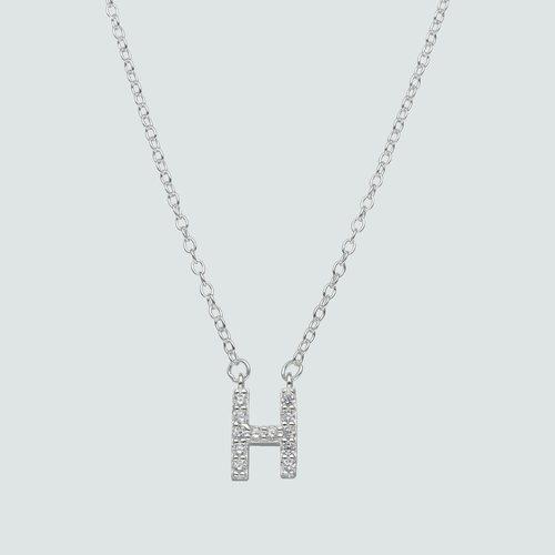 Collar Letra H con Circones