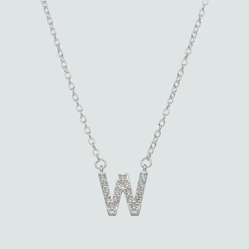Collar Letra W con Circones