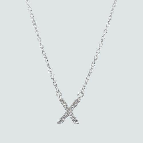 Collar Letra X con Circones